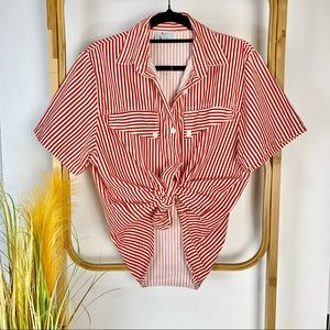 Vintage Mischief top size 12 red white striped